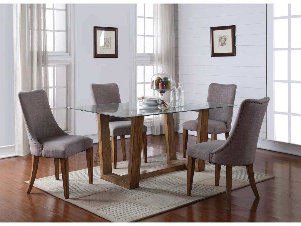 Winners Only EncoreGlass Table & 4 Chairs