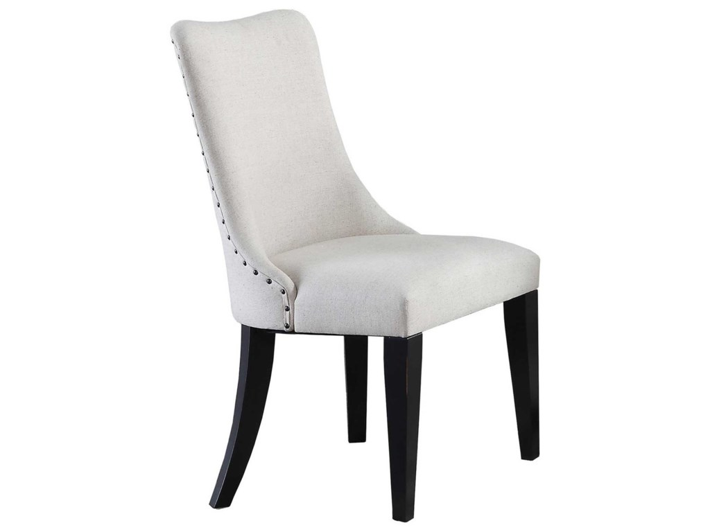 Winners Only Encore Barrel Back Upholstered Side Chair With Nailhead