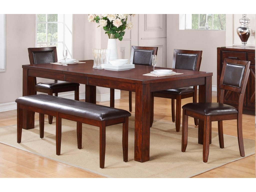 Winners Only FallbrookLeg Table with Butterfly Leaf