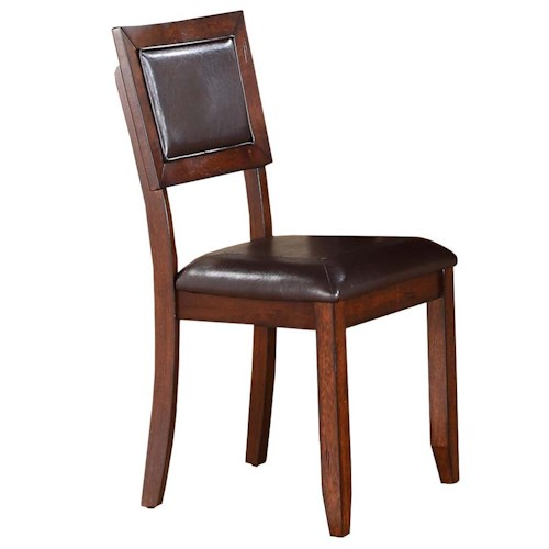 Winners Only Fallbrook Cushioned Back Side Chair with Tapered Legs