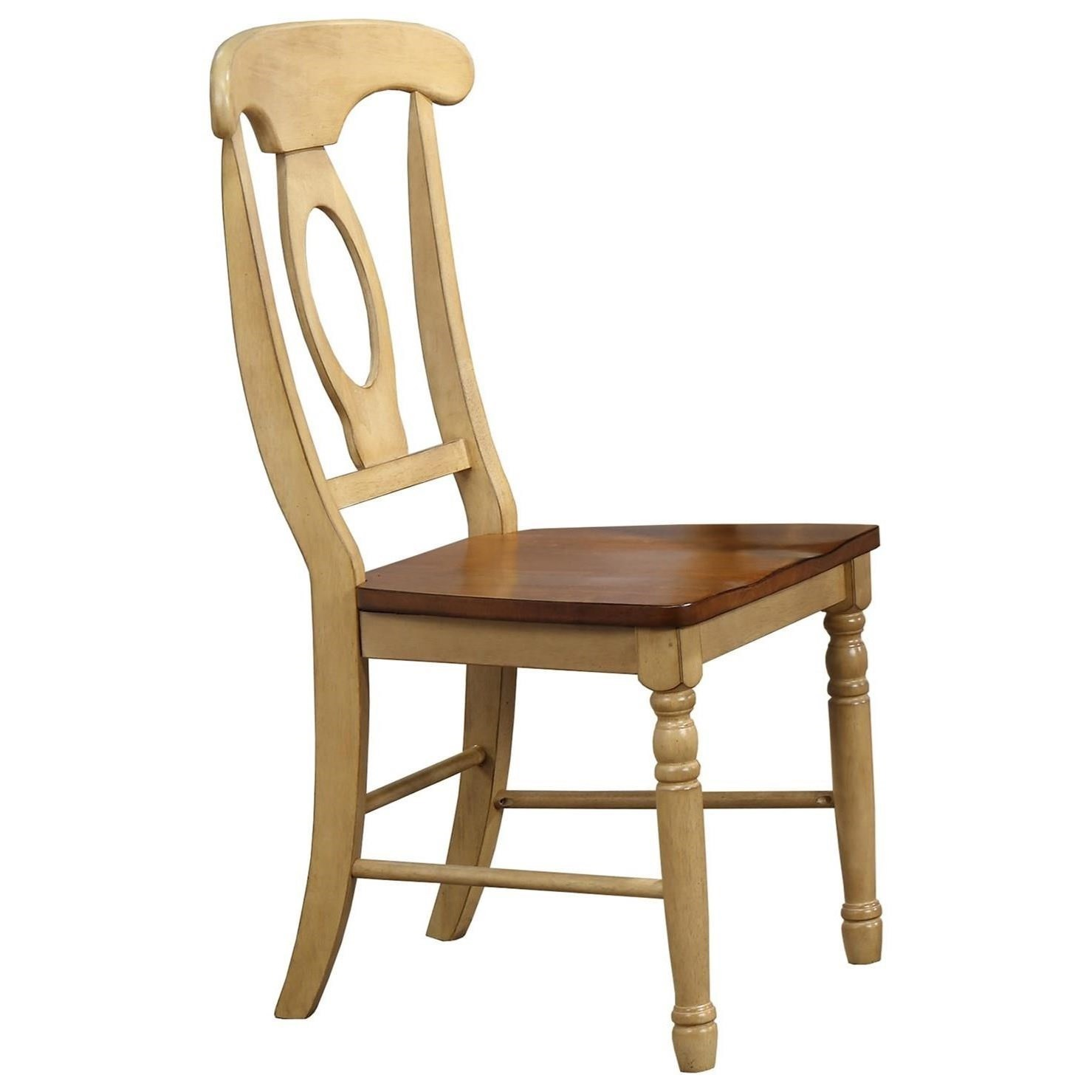 Farmington Napoleon Side Chair With Wood Seat By Winners Only