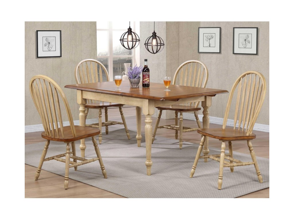 Farmington 5 Piece Country Dining Set by Winners Only at Pilgrim Furniture  City