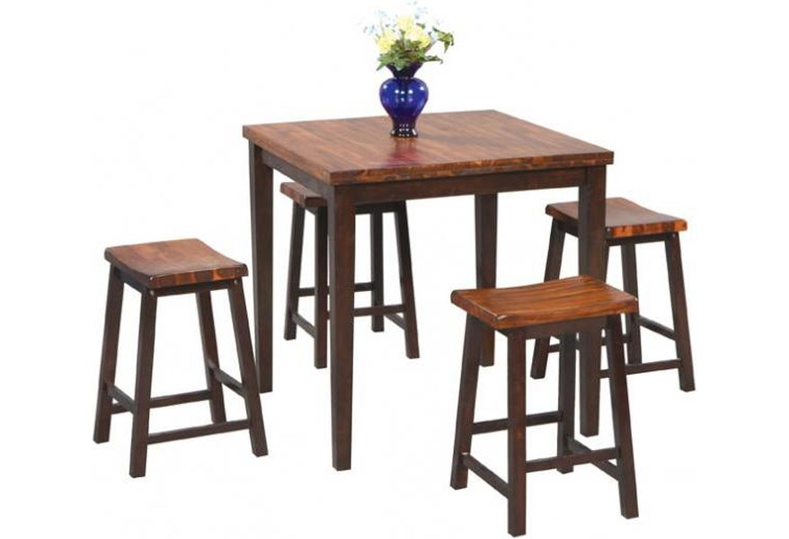 Fifth Avenue 5 Piece Tall Table and Barstool Set