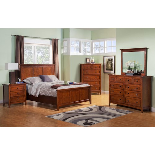 Winners Only Flagstaff Queen Bedroom Group