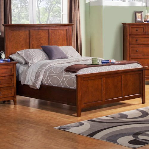 Winners Only Flagstaff King Panel Bed with Tapered Feet
