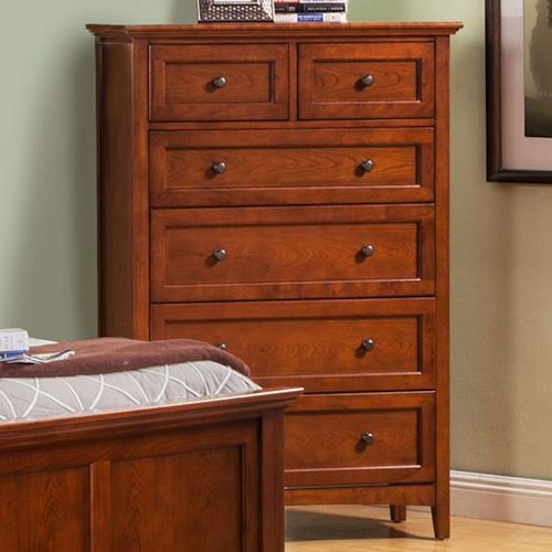 Winners Only Flagstaff 6 Drawer Chest with Tapered Feet
