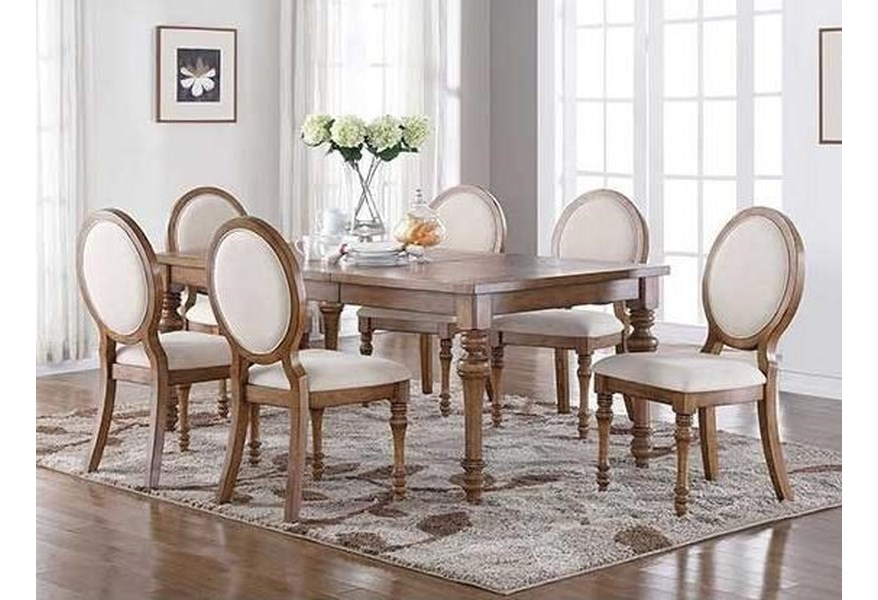 Glendale Cottage Style 7-Piece Dining Set by Winners Only at Dunk & Bright  Furniture