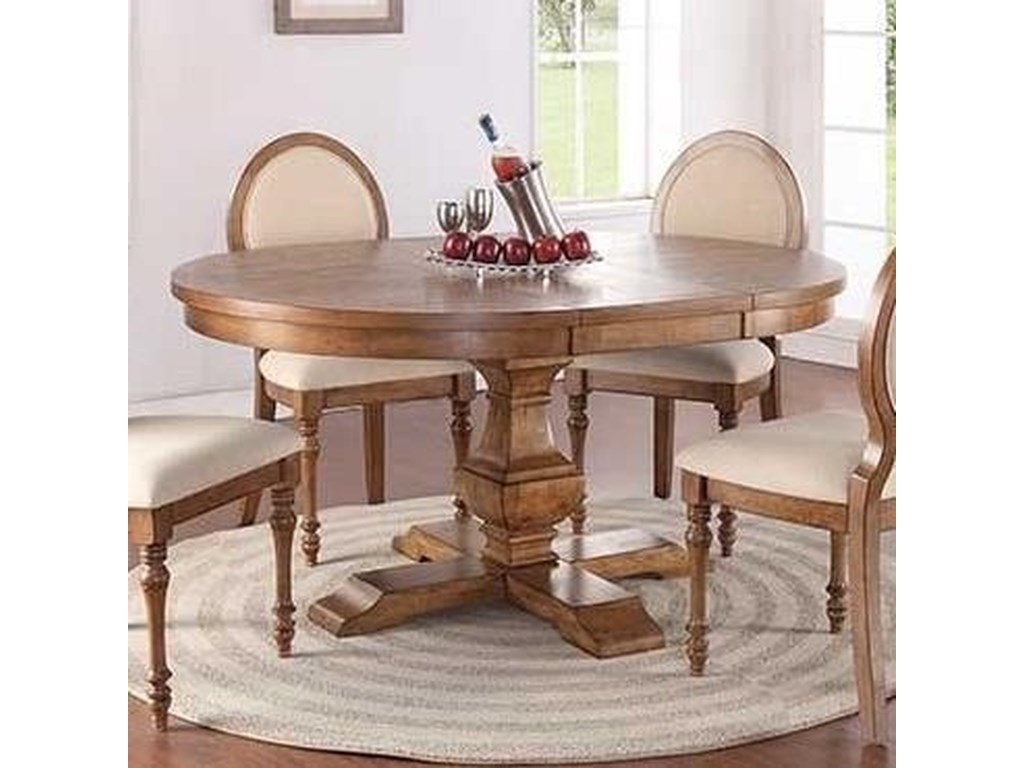 Glendale Cottage Style 66 Pedestal Table With 18 Leaf By Winners Only At Lindy S Furniture Company
