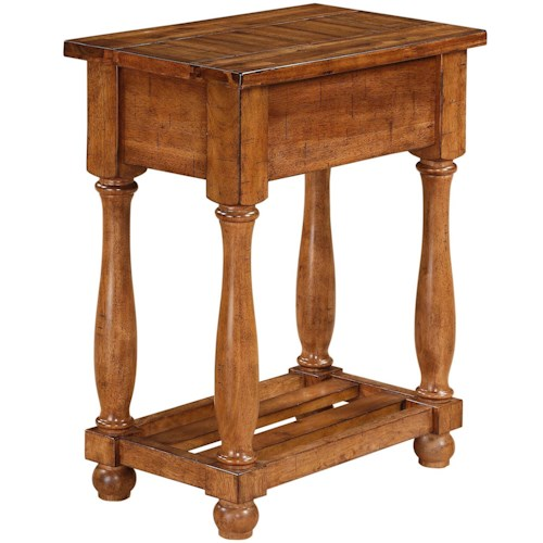Winners Only Grand Estate Chairside Table with Shelf
