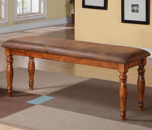 Grand estate 48 dining bench with a cushioned seat for Furniture 0 percent financing