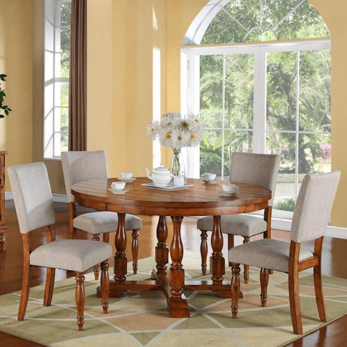 Winners Only Grand Estate 5 Piece Table & Chair Set