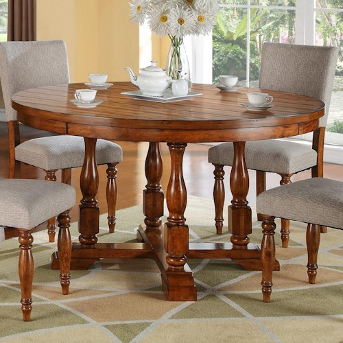 Winners only grand estate 58 round table with an acacia for Table queens acacia