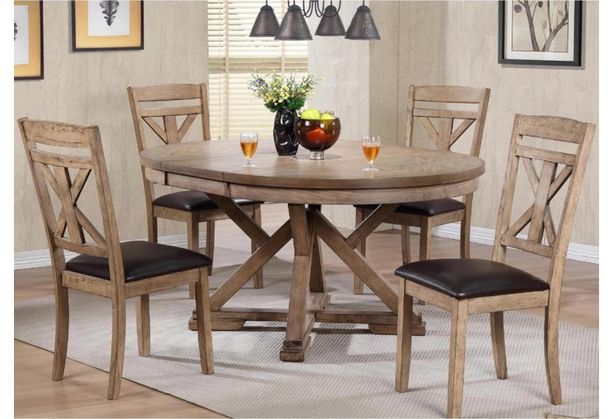 Winners Only Grandview 5 Piece Dining Set Simply Home By Lindy S Dining 5 Piece Sets