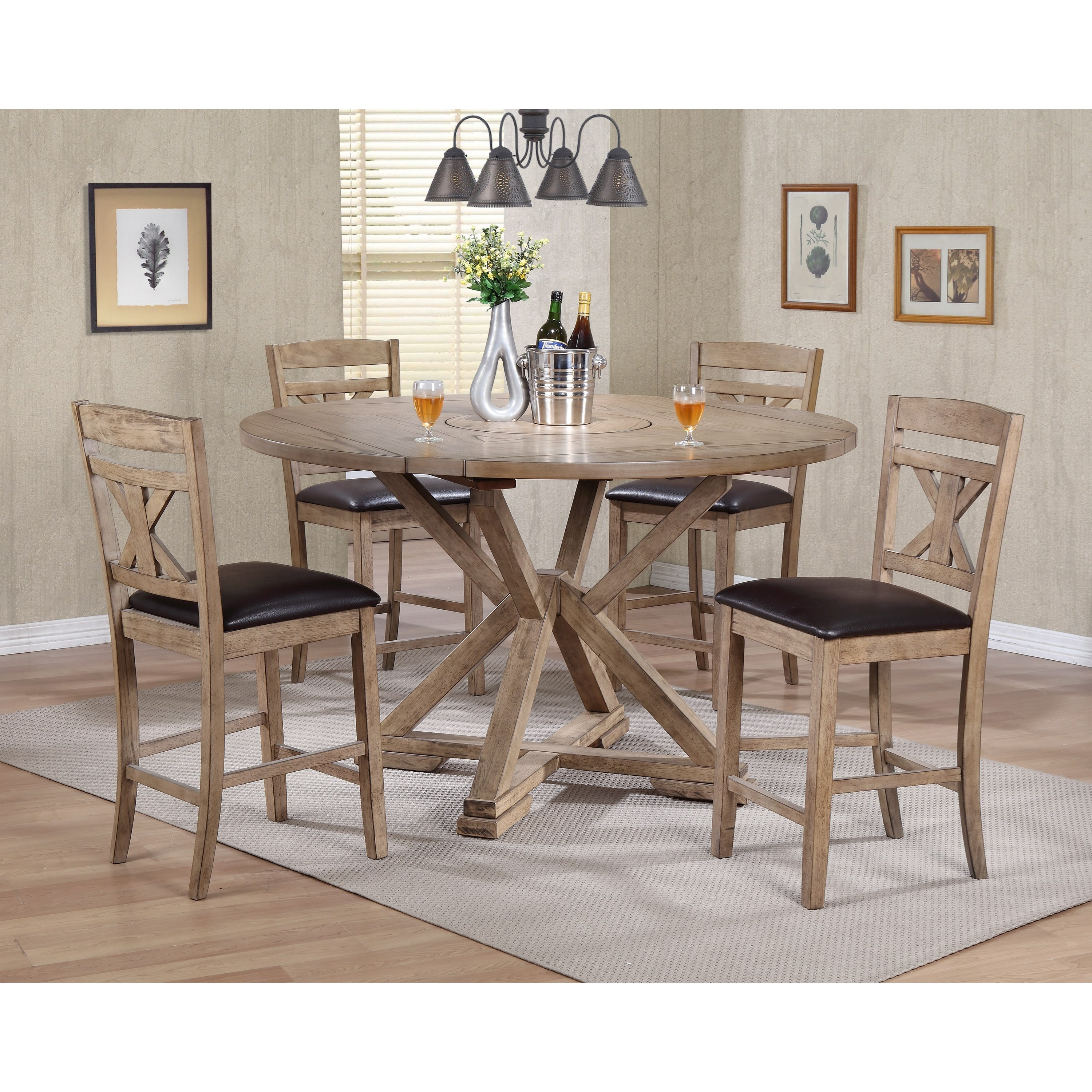 Grandview 5 Piece Counter Height Drop Leaf Dining Set By Winners Only