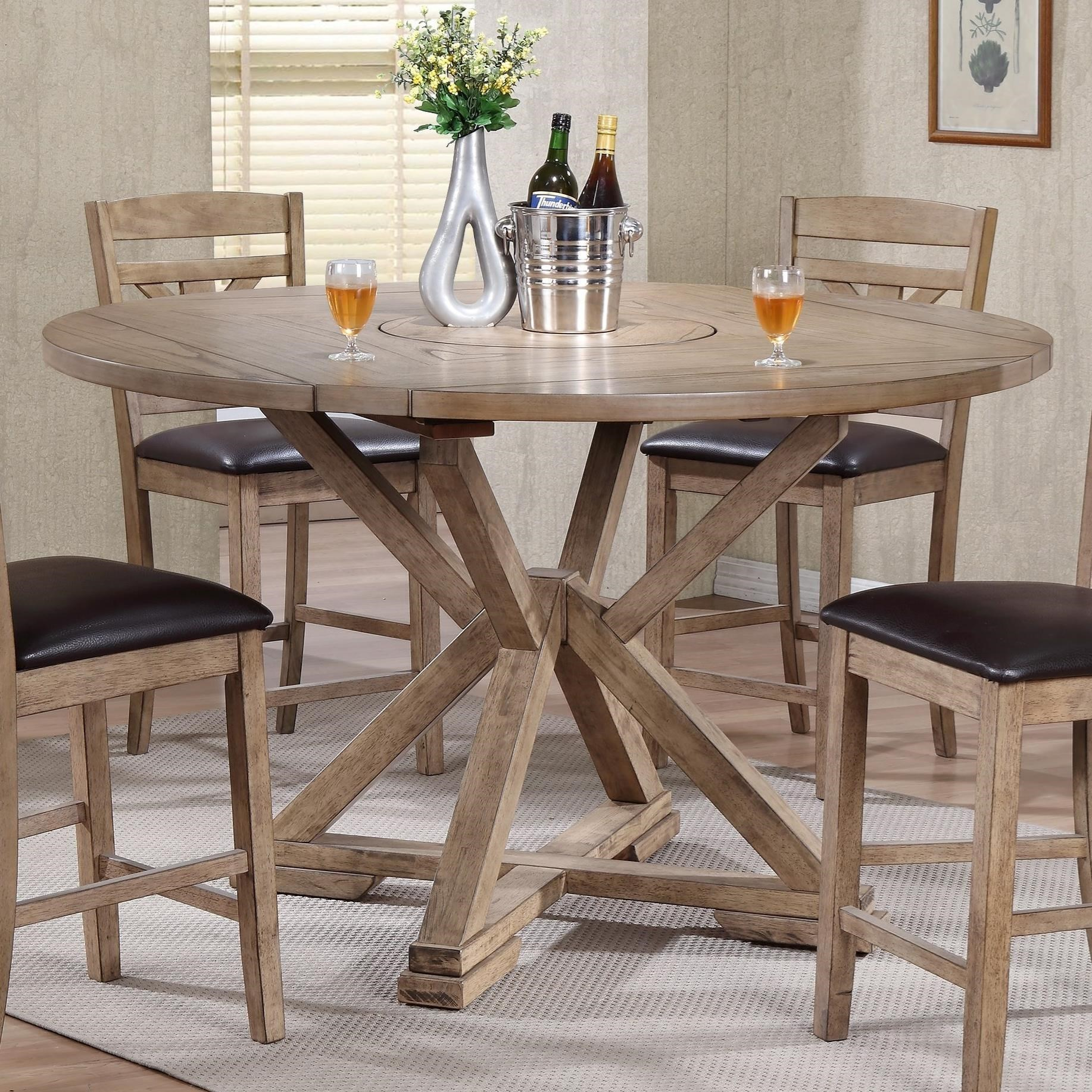 winners only grandview dropleaf counter height table with lazy susan center
