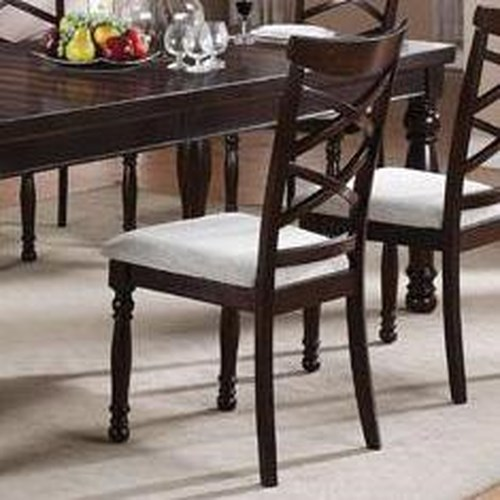 Winners Only Hamilton Park Double X-Back Side Chair with Turned Legs