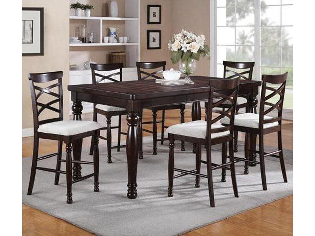 Winners Only Hamilton Park7 Piece Counter Height Dining Set