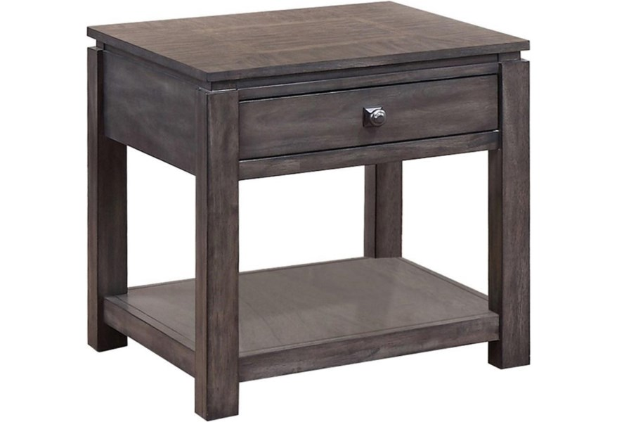 Winners Only Hartford 24 End Table With Shelf Lindy S Furniture Company End Tables