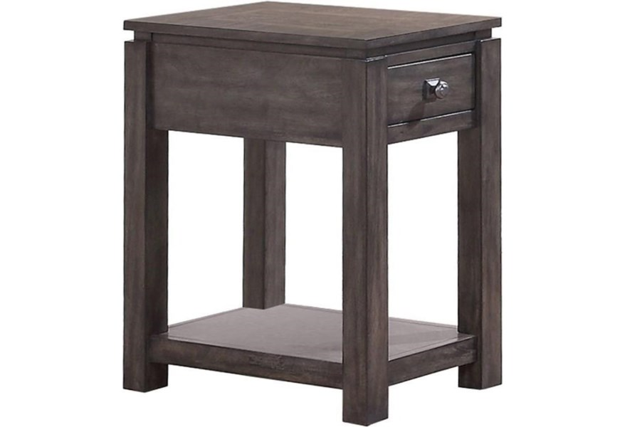 Hartford 14 Chair Side Table With Shelf Sadler S Home Furnishings End Tables