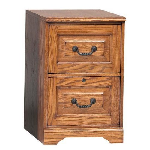Winners Only Heritage Oak Two-Drawer File Cabinet
