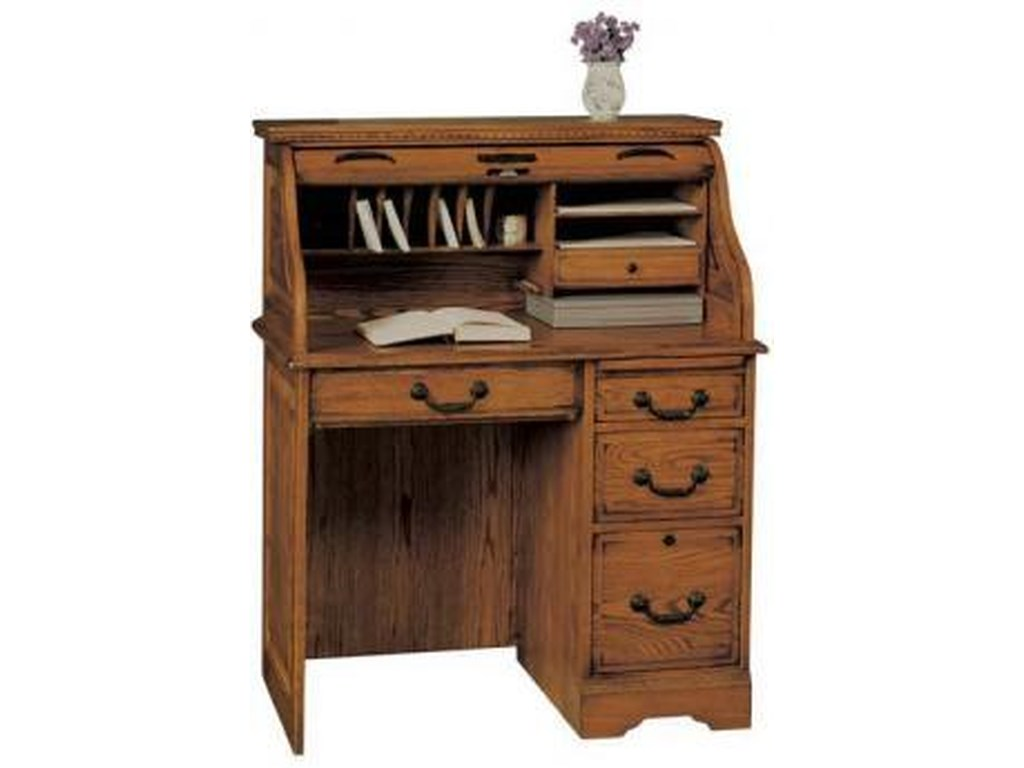 Heritage Oak Roll Top Desk By Winners Only
