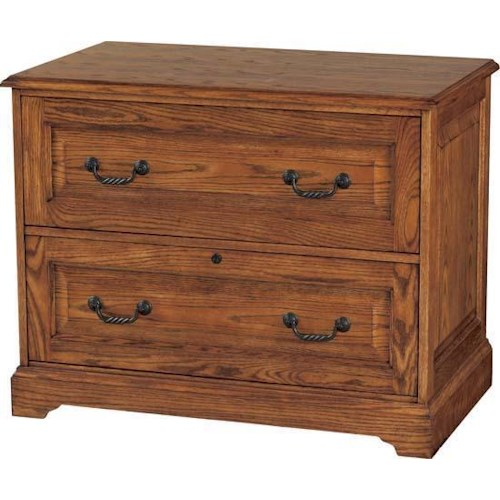 Winners Only Heritage Oak Two Drawer Lateral File Cabinet With Raised Panel