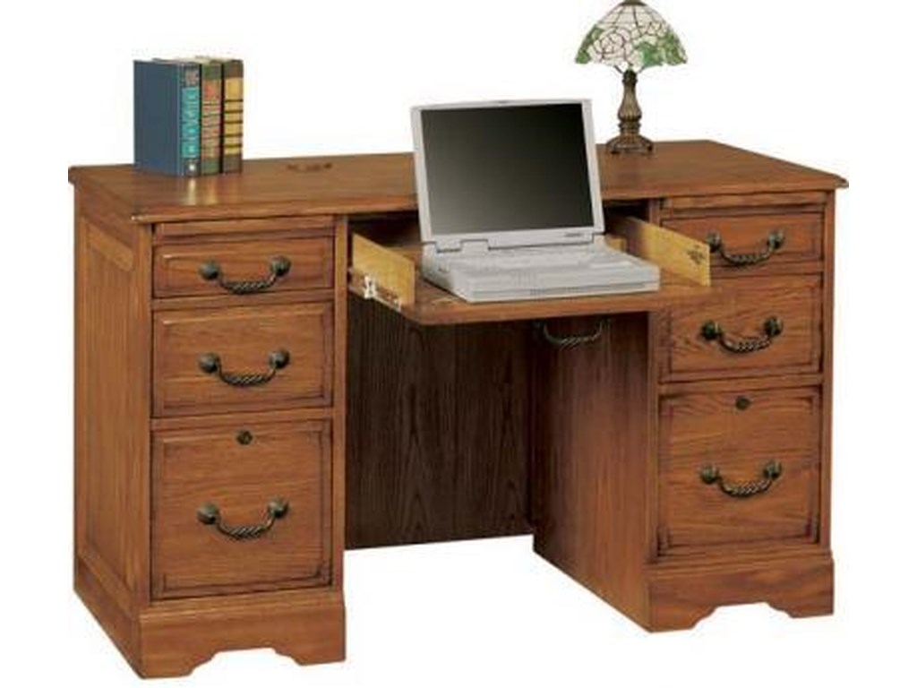 Heritage Oak Flattop Computer Desk By Winners Only At Rotmans