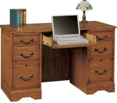 Heritage Oak Flattop Computer Desk