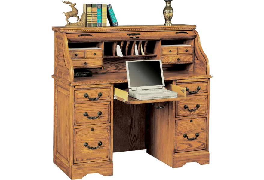 Winners Only Heritage H348r Rta Traditional 48 Roll Top Desk With Locking File Drawers Dunk Bright Furniture Roll Top Desks