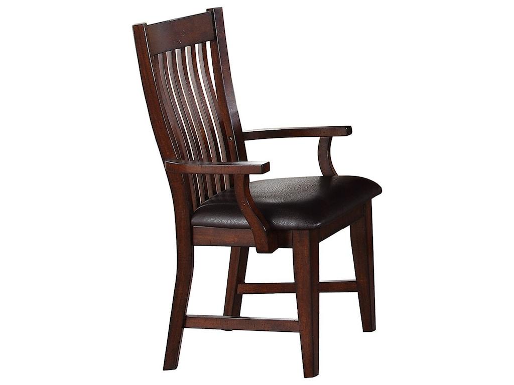 Winners Only JavaSlat Back Arm Chair