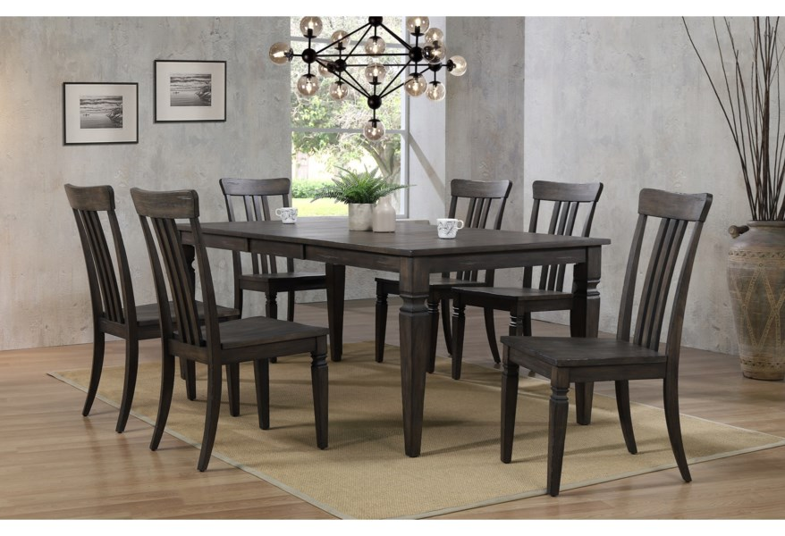 Winners Only Jordan Dj33872 Transitional Dining Table With Removable Leaf Gill Brothers Furniture Dining Tables