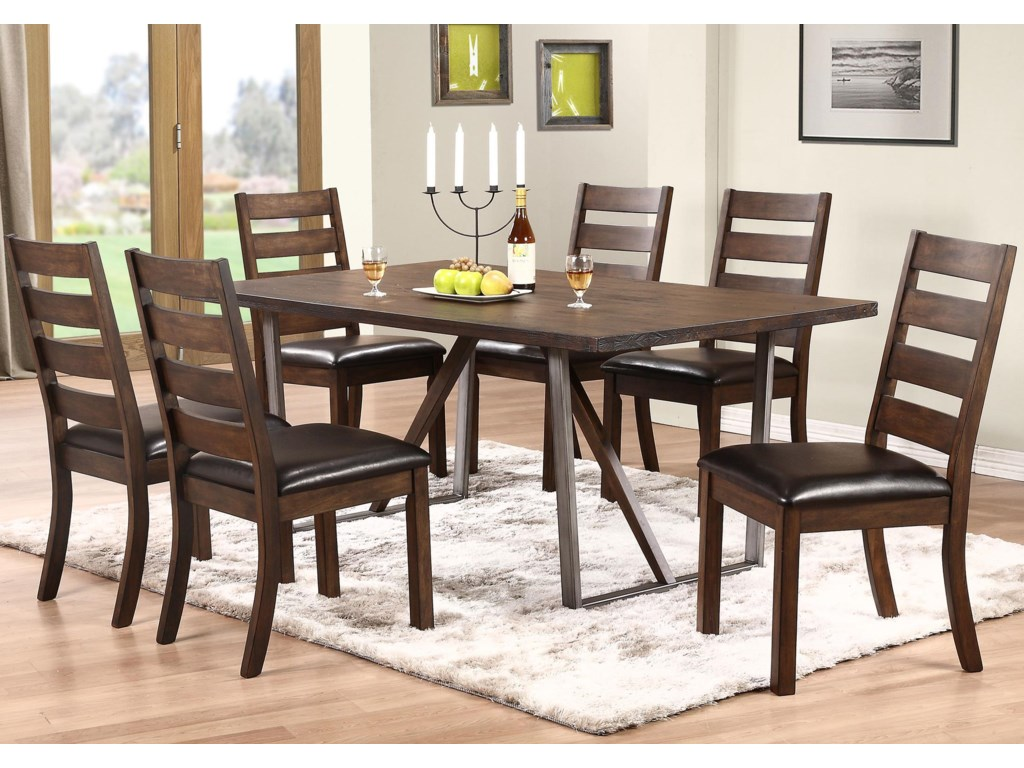 Kendall 7 Piece Dining Set With Trestle Table By Winners Only