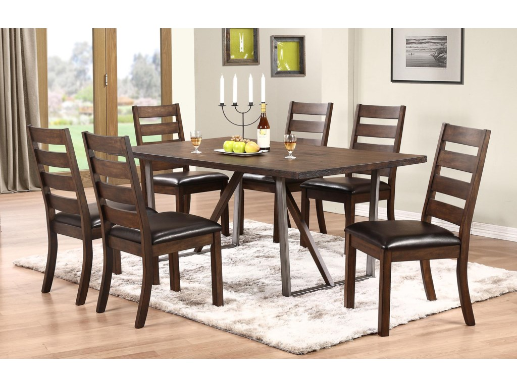 Winners Only Kendall DK Trestle Table With Metal Base Dunk - Kendall coffee table