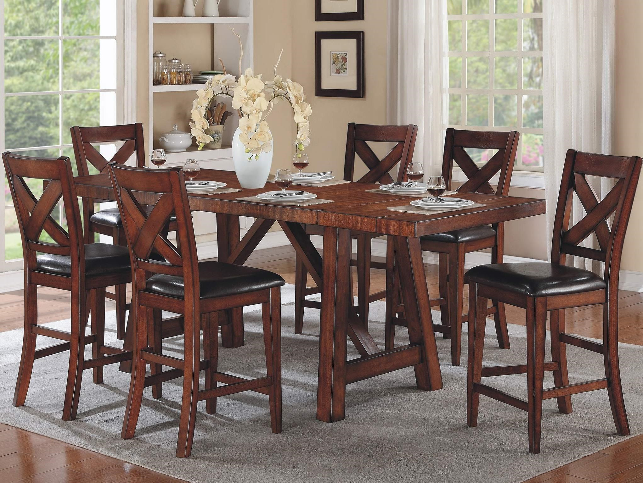 Winners Only Kingston 7 Piece Counter Height Table U0026 Chair Set