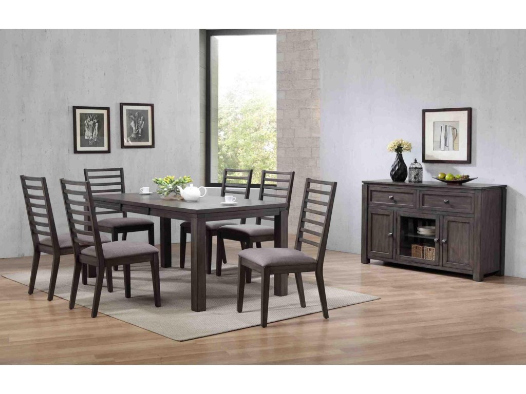 Winners Only Lancaster 7pc Dining Set Bennett S Furniture And