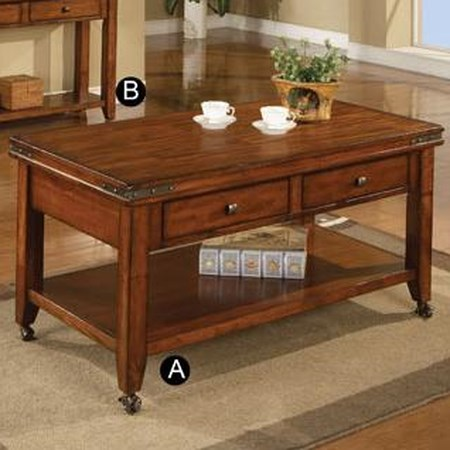 "50"" Coffee Table with Casters"