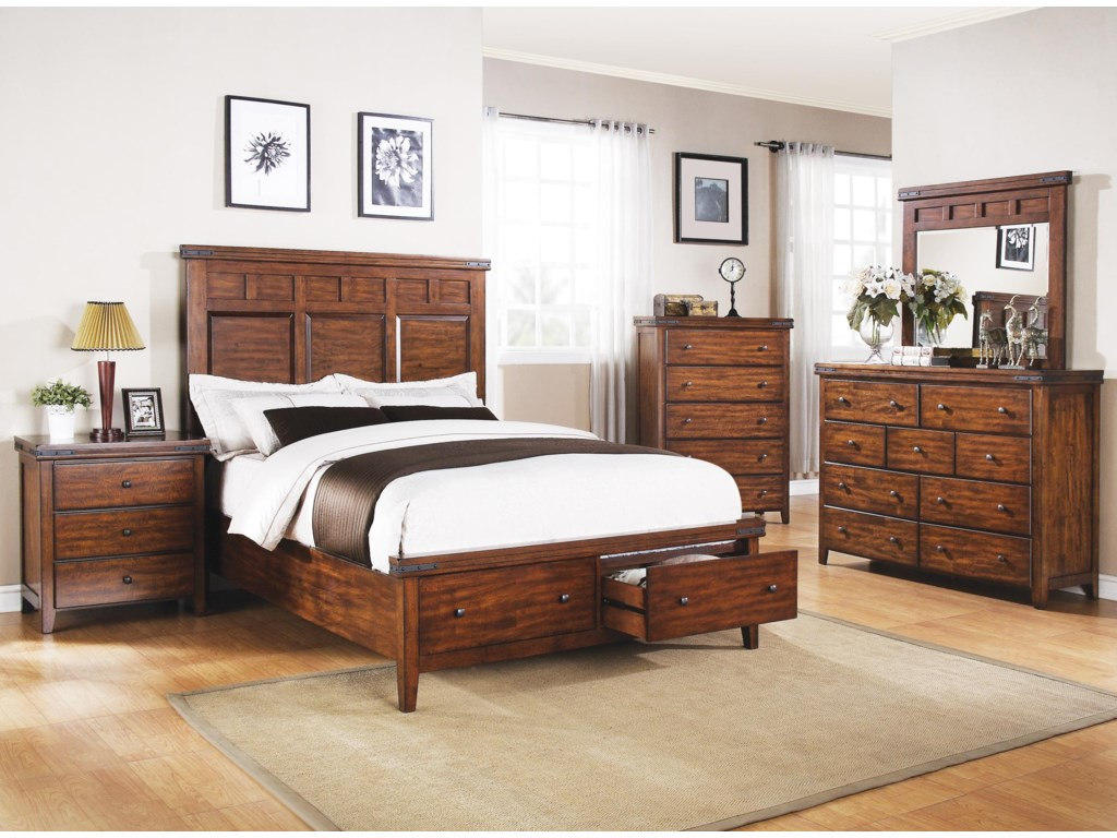 Winners Only MangoQueen Panel Storage Bed