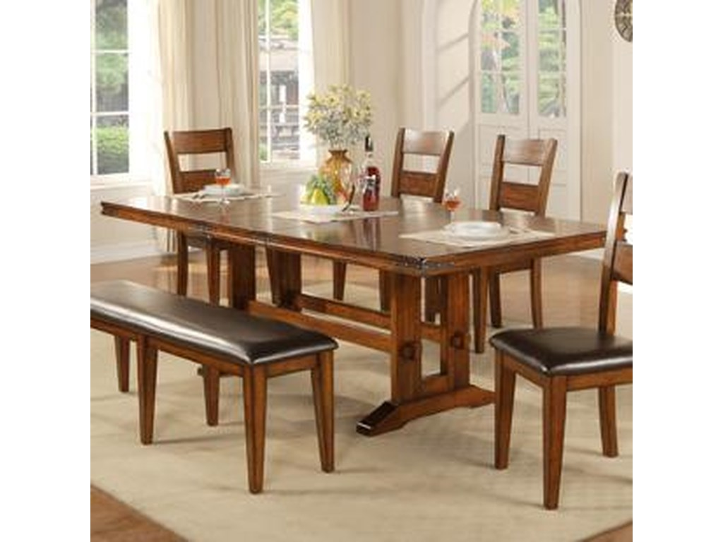Winners Only Mango Dmg4492 Trestle Table Dunk Bright Furniture Dining Tables