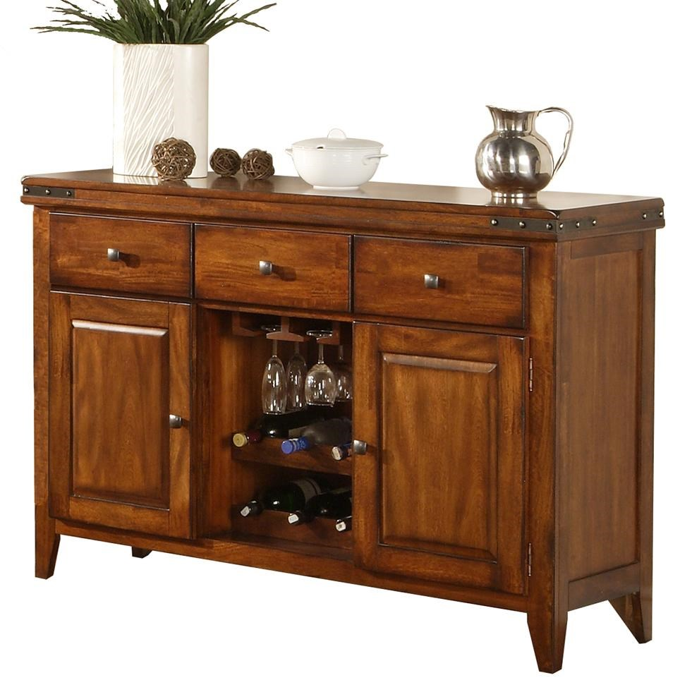 Winners Only Mango Sideboard With Wine Rack   Darvin Furniture   Sideboard