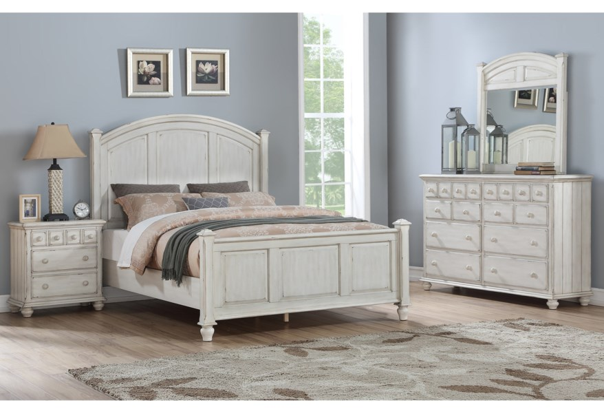 Winners Only Nashville Queen Bedroom Group | Dunk & Bright ...