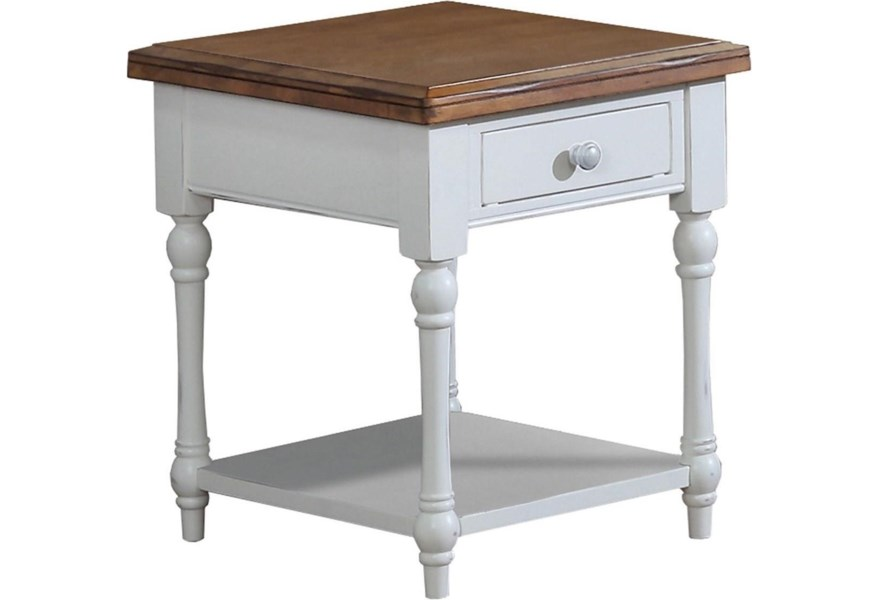 Winners Only Pacifica 20 Rectangular End Table With A Drawer Lindy S Furniture Company End Tables