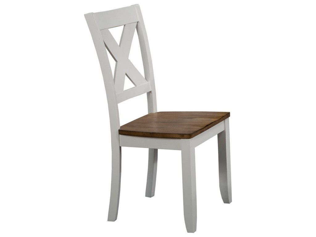 Winners Only Pacifica Dp521s X Back Farmhouse Dining Side Chair