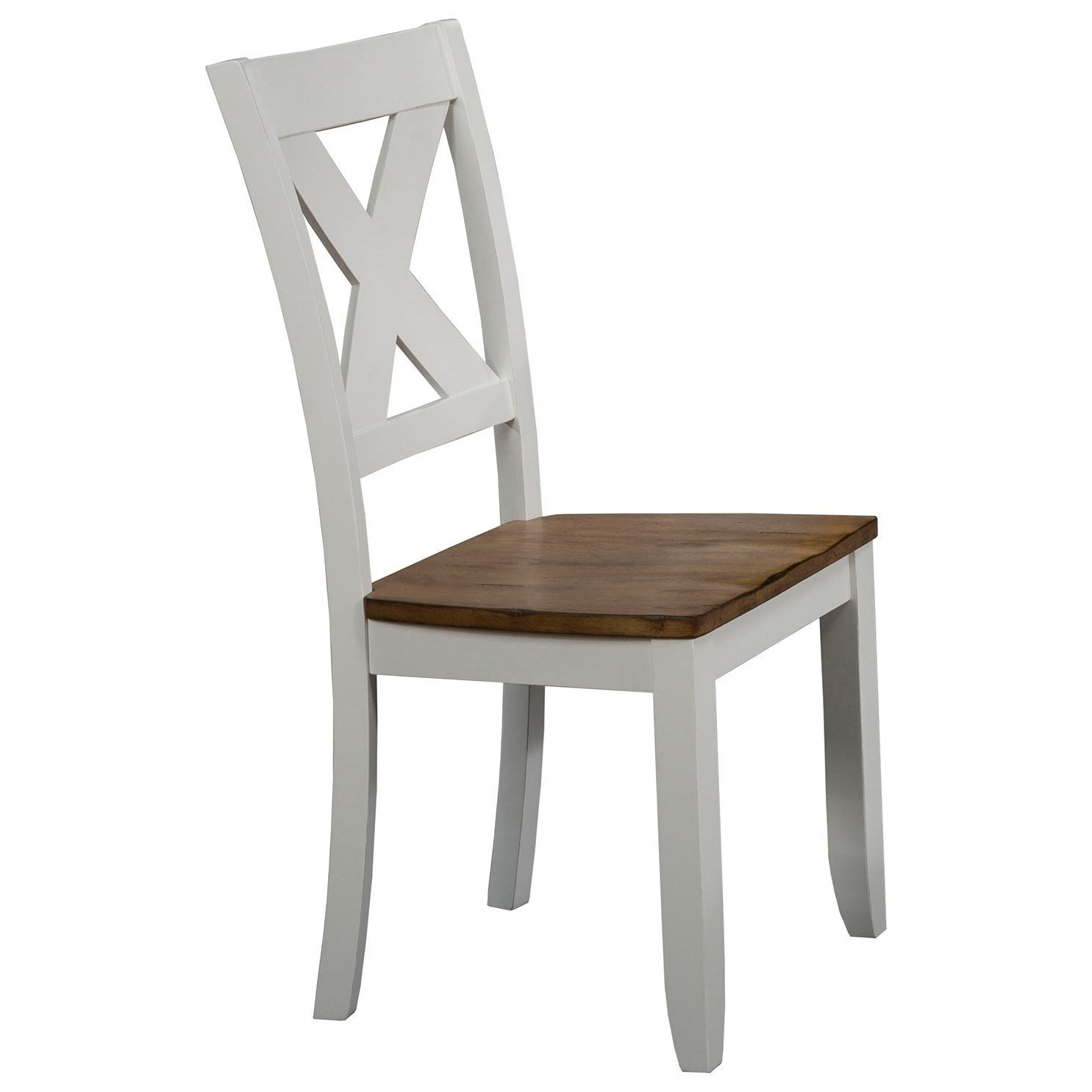 Pacifica X Back Farmhouse Dining Side Chair By Winners Only