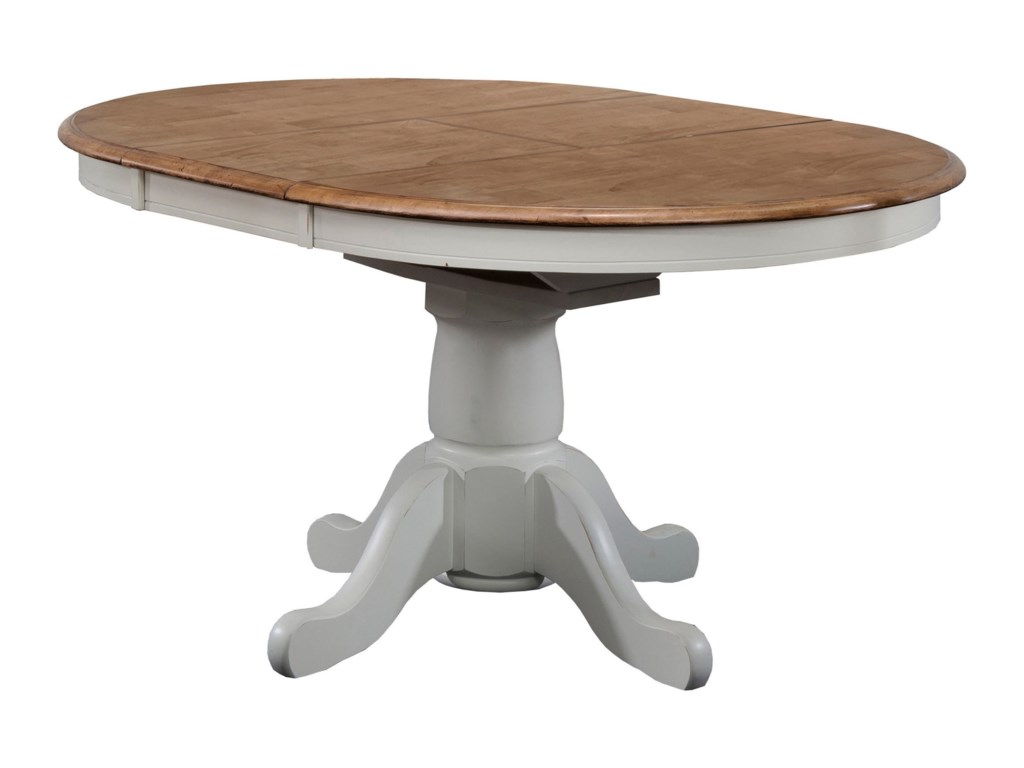 Winners Only Pacifica 42 Pedestal Table With 15 Butterfly Leaf