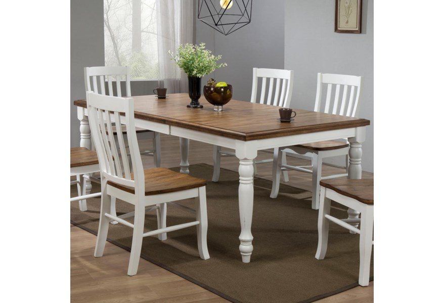 Winners Only Pacifica Dp54278 78 Dining Table With 18