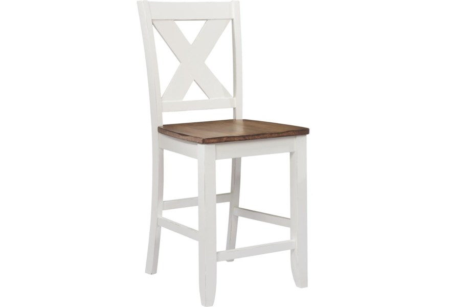 wholesale dealer 03e6b d7547 Pacifica X Back Counter Height Barstool by Winners Only at Dunk & Bright  Furniture