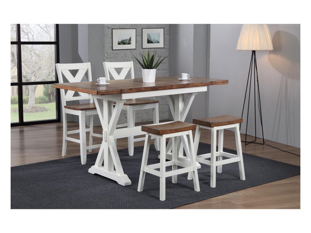 Winners Only PacificaX Back Counter Height Barstool