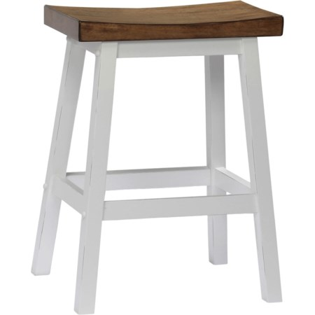Counter Height Saddle Barstool