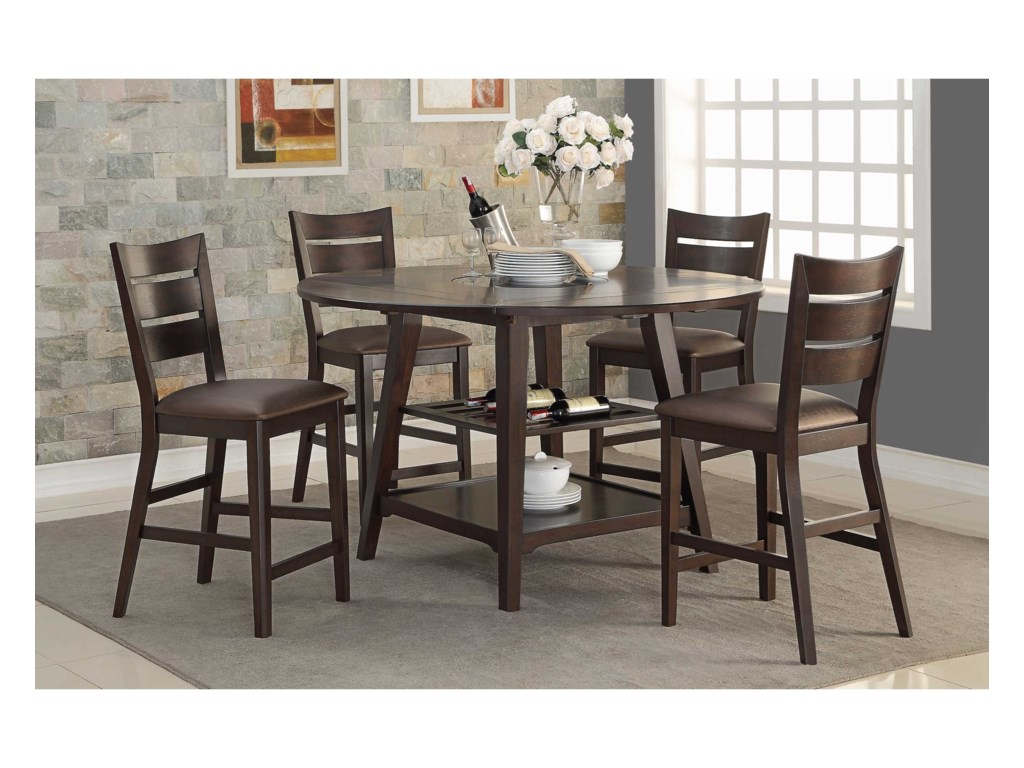 Winners Only Parkside 5 Piece Counter Height Dining Set
