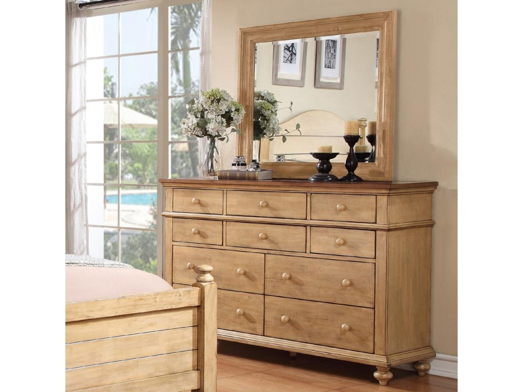 Winners Only Quails RunDresser and Mirror Set